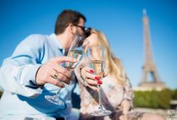 Ensaio fotografico de noivado em Paris
